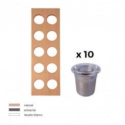 Étagère À Épices + 10 Conteneurs Inox Cubertero Cube