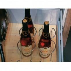Set de 4 porte-bouteilles pour Base Perforée Espace Ouvert
