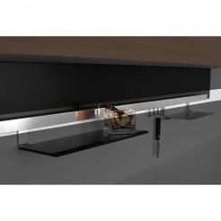 Kit de Barre d'Aluminium Brossé de Titan pour Accrocher les Accessoires de Cuisine