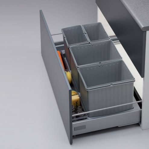 Cube corbeille de recyclage J Cajon 90 cms