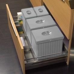 Cube corbeille de recyclage, je Cajon 90 cms