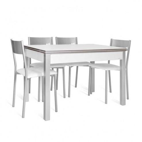 Set De Table Lovy + 4 Chaises Puce