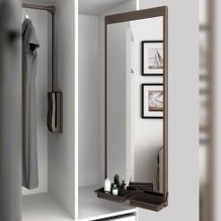 Miroir Amovible Intérieur De L'Armoire Moka