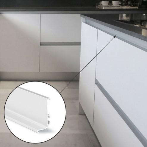 Profil Gola Horizontale En Haut De Cuisine Blanc